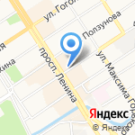 Город на карте Барнаула