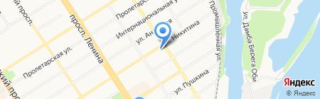 Единая Служба Сантехников на карте Барнаула