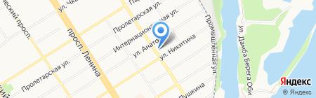 Магазин отделочных материалов на карте Барнаула