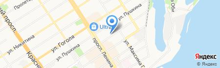 Валёр на карте Барнаула