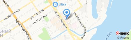 Магазин нижнего белья и колгот на карте Барнаула