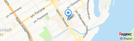 Ломбарды ЮC-585 на карте Барнаула