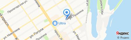 Золотой Восход на карте Барнаула