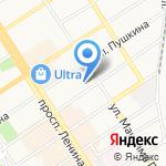 Василек на карте Барнаула