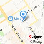 Пакетон на карте Барнаула