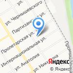 Детская школа искусств №1 на карте Барнаула