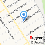 ЗапСибстрой на карте Барнаула
