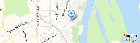 Мебельный дом на карте Барнаула