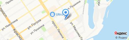 Щербинин О.В. на карте Барнаула
