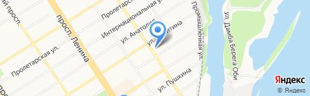 Сибирский Арсенал на карте Барнаула