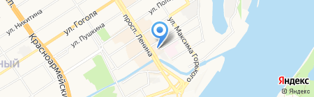Банкомат Газпромбанк на карте Барнаула