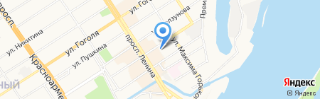 Флагман на карте Барнаула