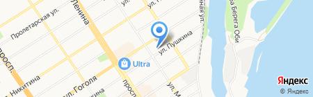 Аланко на карте Барнаула