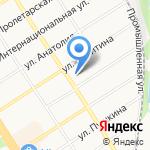 Представитель на карте Барнаула