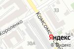 Схема проезда до компании ТракторМоторДеталь в Барнауле