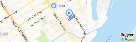 Триада на карте Барнаула