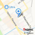 +Web на карте Барнаула