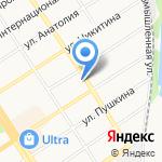 Октябрь на карте Барнаула