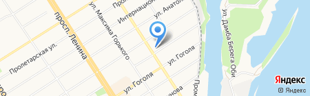 Танден на карте Барнаула