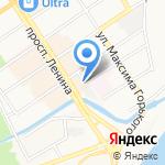 Венец на карте Барнаула