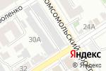 Схема проезда до компании Октябрь в Барнауле
