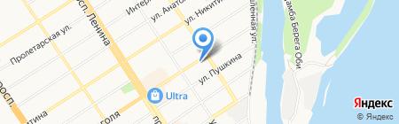Артель на карте Барнаула