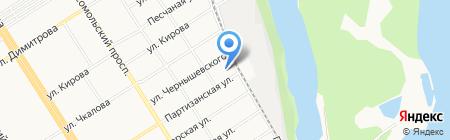 Детский сад №57 на карте Барнаула