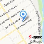 Русская баня на карте Барнаула