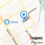 Онегин на карте Барнаула