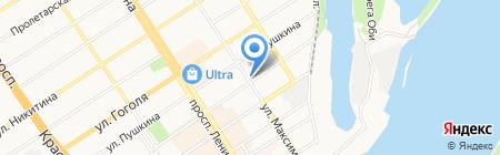 ОСТ на карте Барнаула
