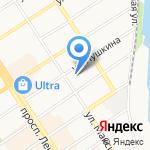 Оптима на карте Барнаула