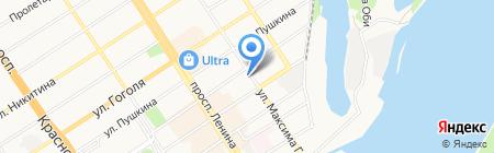 АлтИФУ на карте Барнаула