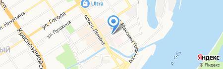 Трямдия на карте Барнаула