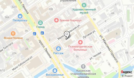 Shocogram. Схема проезда в Барнауле