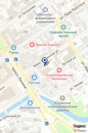 Мобильный планетарий на карте Барнаула