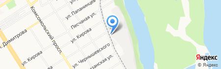 Стелс на карте Барнаула