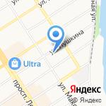 Максимальное продвижение на карте Барнаула