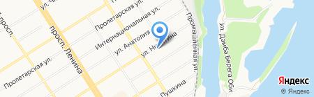 Каска на карте Барнаула