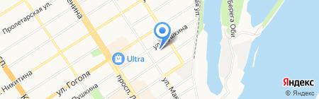 Аркада на карте Барнаула