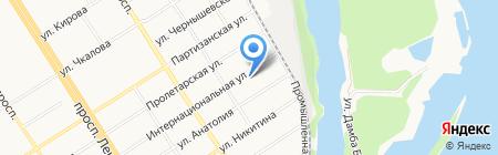 Тривонт на карте Барнаула