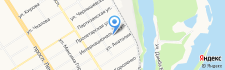 АС Электро на карте Барнаула