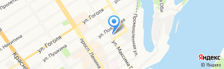 БТП на карте Барнаула