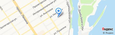 Детский сад №11 на карте Барнаула
