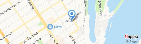 Отдел судебных приставов Железнодорожного района на карте Барнаула