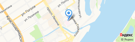 Диспансер на карте Барнаула