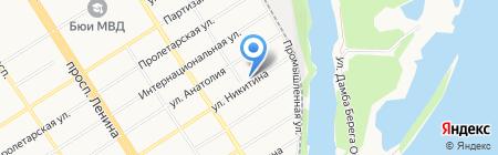 Почтовое отделение №56 на карте Барнаула