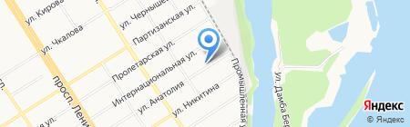 АКБ Зернобанк на карте Барнаула
