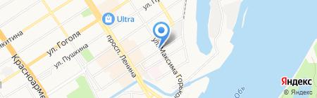 Мед Алтая на карте Барнаула