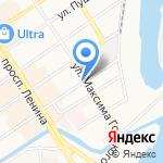 Дом меда на карте Барнаула