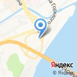 Обской мост на карте Барнаула